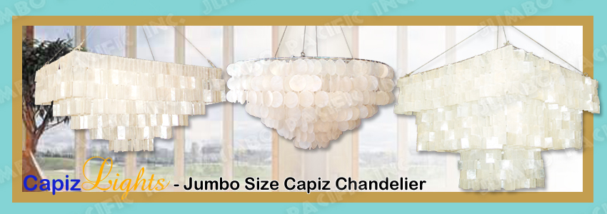 Jumbo Big Size Capiz Chandelier Collection